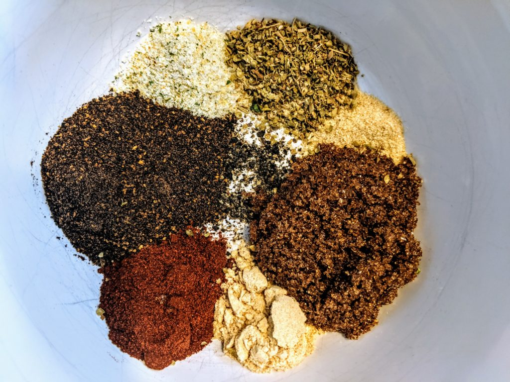 Scott Turman's Dry Rub Ingredients