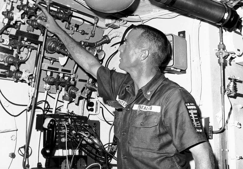 Scott Carpenter in SEALAB II